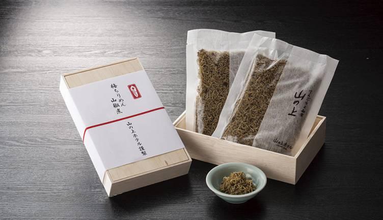 【テイクアウト】天重弁当、梅ちりめん山椒煮、ご予約承り中!