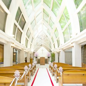 内庭の独立型チャペル 『山の上教会』